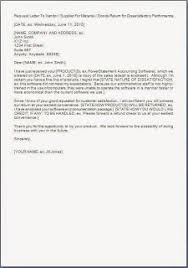 product return request letter format sample template example of