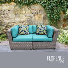 Turquoise Patio Furniture by Tk Classics Florence 2 Piece Outdoor Wicker Patio Furniture Set 02a