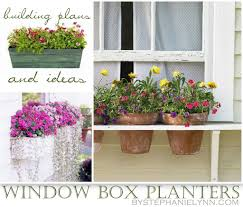 How To Make Planter Boxes by Ten Diy Window Box Planter Ideas With Free Building Plans
