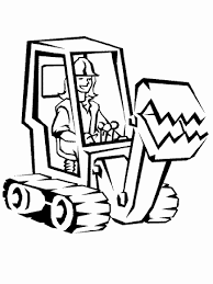 heavy construction equipment coloring pages kids
