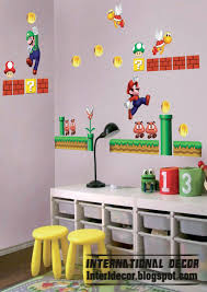 Cool Wall Decals by Super Mario Wall Stickers Mario Kids Room Designs Home