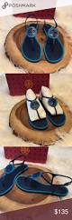 tory burch miller fringe sandals nwt shoes sandals sandals and navy