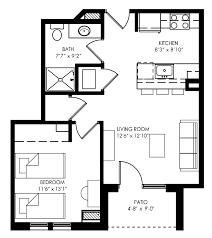 Waterfront Floor Plans by Remarkable Small One Bedroom Apartment Floor Plans Pictures