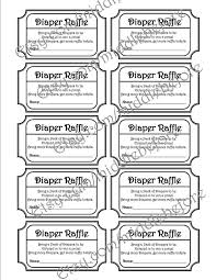 8 best images of black and white zebra diaper raffle template free