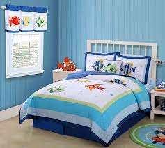 Kids Bedding Set For Boys by Kids Ocean Fish Bedding Twin 2pc Quilt Set Tropical Sea Beach