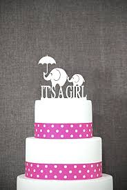 baby shower cake toppers girl its a girl elephant cake topper cake topper
