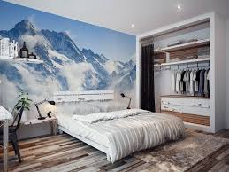 contemporary master bedroom with built in bookshelf by tony