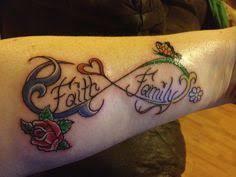 my family 3 family infinity tattoos