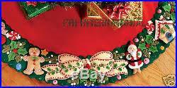 s wreath 42 felt tree skirt kit 85466 table cover