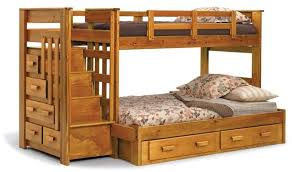 natural wood bunk beds twin over full u2014 modern storage twin bed