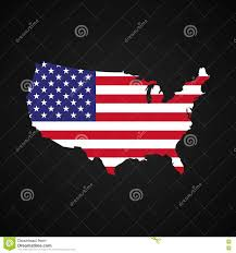 United States Of Anerica Map by United States Of America Map With The Flag Inside Silhouette Usa