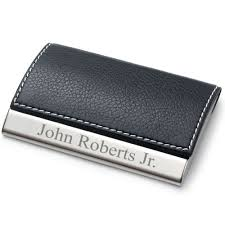 Personalized Desk Organizer by Amazon Com Personalized Leatherette Business Card Case Free