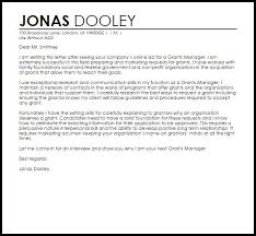 grant cover letter example download grant proposal cover letter