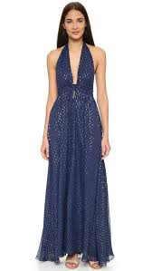 fancy maxi dresses loveshackfancy metallic dot fancy maxi dress in blue lyst