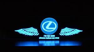 lexus emblem pics lexus car stickers sound active equalizer glow led light youtube