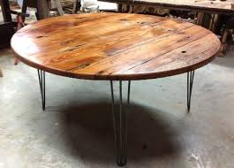 kitchen charming reclaimed wood round kitchen table reclaimed