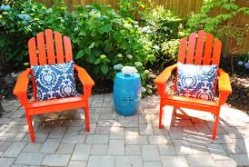 Best Way To Paint Metal Patio Furniture Adding Bright Red Adirondack Chairs To Our Side Patio Young