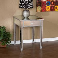 Living Room Accent Table Sei Mirage Mirrored Accent Table End Tables Night Stand Small End
