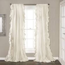 Shabby Chic Voile Curtains by Eton Curtain Panels Apartments And Bedrooms
