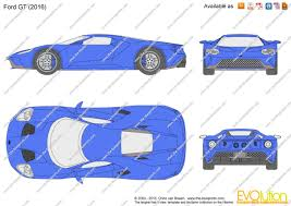 the blueprints com vector drawing ford gt