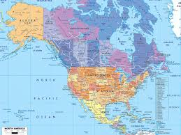 Physical Map Of Canada And The United States by Download Map Of Northern United States And Canada Major Tourist