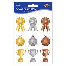 bulk party supplies 12ct beistle award ribbon stickers bulk party supplies
