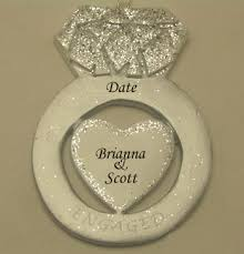 engagement ring personalized ornament