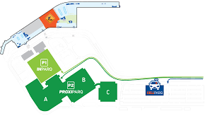 Florida Airport Map Parking And Passenger Pick Up Aéroport International Jean Lesage