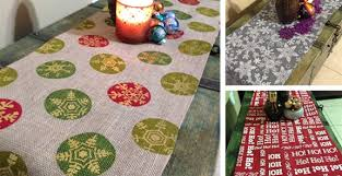 burlap christmas table runner holiday burlap table runners for 14 99 shesaved with regard to