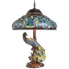 peacock stained glass table l foter