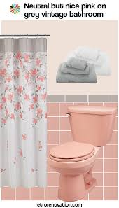 pink bathroom ideas 12 ideas to decorate a pink and gray vintage bathroom retro