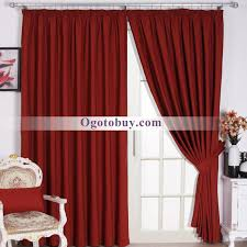 modern burgundy solid room darkening jacquard living room curtains