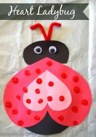 heart ladybug valentines day craft for kids ladybug crafts