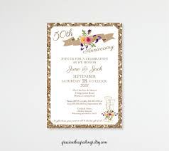 Golden Wedding Invitation Cards Anniversary Invitations 5th 15th 20th 25th 35th 50th