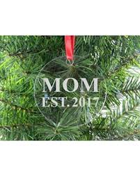 fall savings on mom est 2017 clear acrylic christmas ornament
