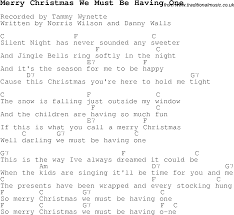 carol song lyrics with chords for merry we must
