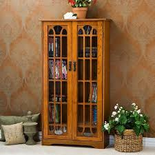southern enterprises china cabinet southern enterprises window pane media cabinet bookcase oak