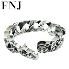 solid sterling silver bracelet images 17mm box big chain male s925 solid silver bracelet pure 925 jpg