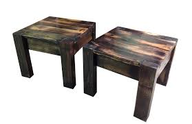 reclaimed southern pine side tables the scorched finish van