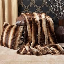 Leopard Print Faux Fur Throw Amazon Com Best Home Fashion Faux Fur Throw Full Blanket
