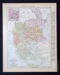 Map Of Italy And Surrounding Countries by Countries E I Vintage Maps