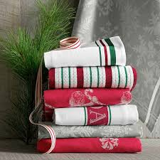 christmas towels stripe kitchen towels set of 2 williams sonoma