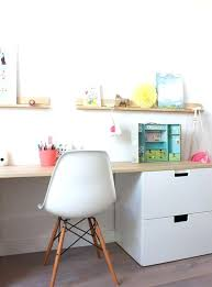 Small Kid Desk Desk And Storage Great Use Of Storage Room With Storage
