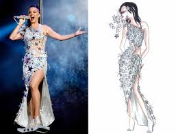see the original sketches of katy perry u0027s epic super bowl halftime