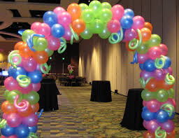 Neon Themed Decorations 14 Best Neon Balloons Images On Pinterest Balloon Centerpieces