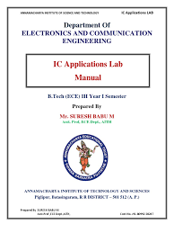 ic lab manual by suresh babu operational amplifier amplifier