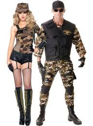 Military Halloween Costumes Camo Couples Costumes Party Halloween Couples Costumes