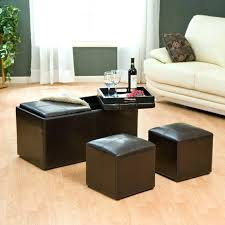 ottoman with 4 stools coffee table with storage stools coffee table with 4 ottoman stools