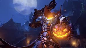 pumpkin halloween wallpaper pumpkin halloween reaper overwatch wallpaper 10553