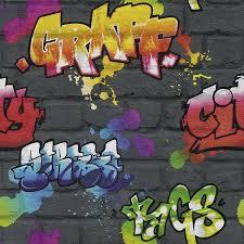 Bedroom Wall Graffiti Stickers Personalised Graffiti Wall Art Wall Sticker Amazon Co Uk Kitchen